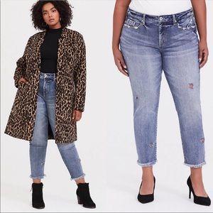 TORRID High Rise Straight Raw Hem Vintage Jean